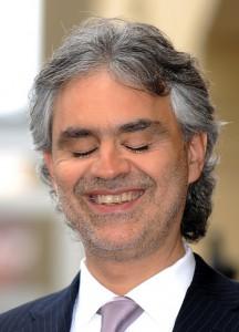 Italian tenor Andrea Bocelli smiles afte