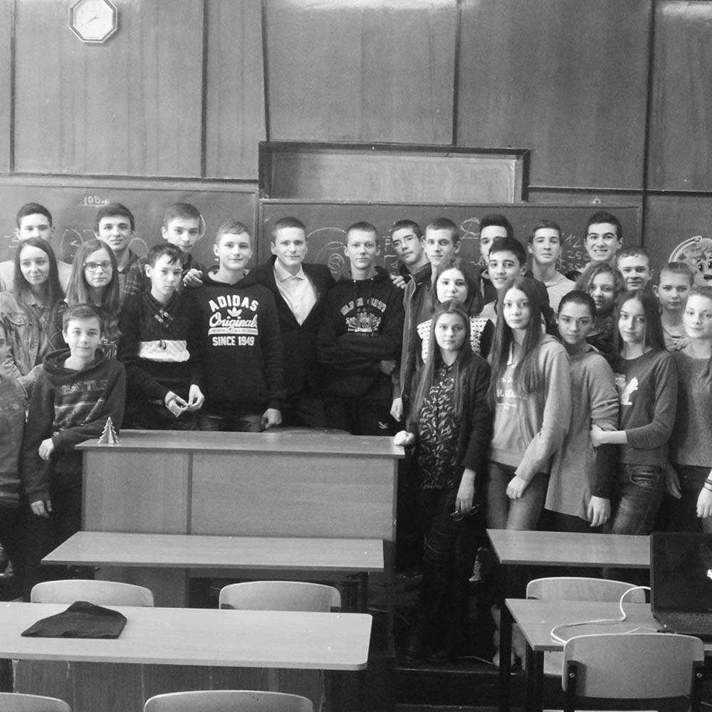 15/01/16  Мотивационный семинар в школе №14 (г.Кировоград)